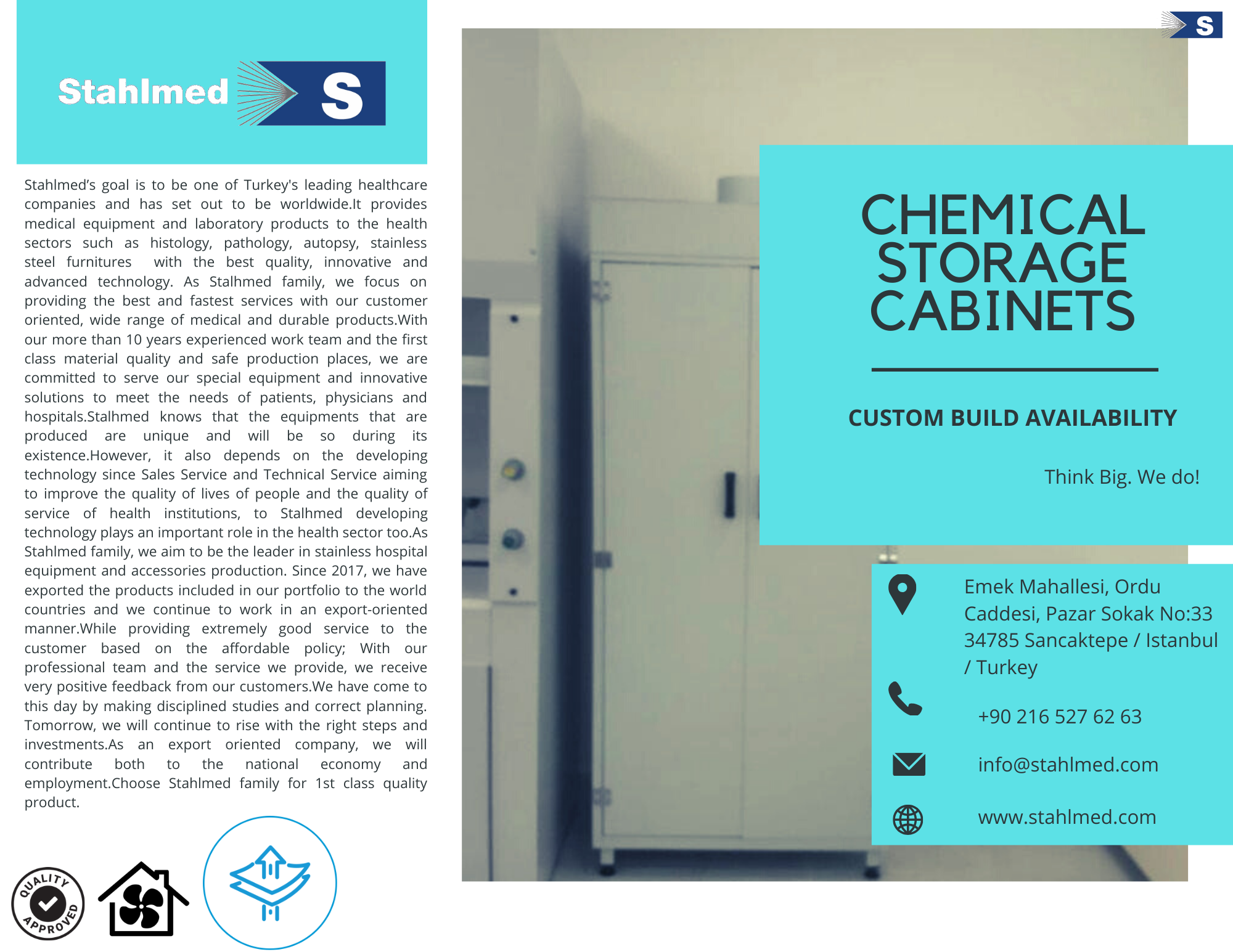 Chemical Storage Cabinet | Stahlmed